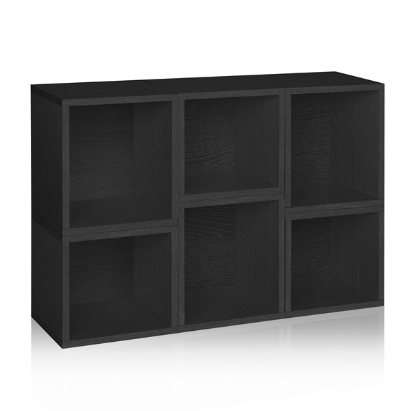Way Basics Eco Friendly Stackable Arlington Modular Bookcase and Storage Shelf (Black)