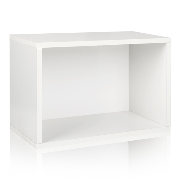 Way Basics Eco Friendly Stackable Shelf and Shoe Rack (Black)