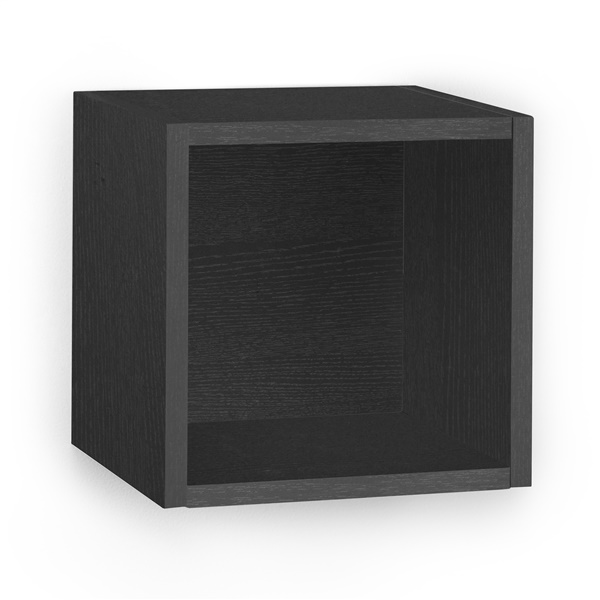 Way Basics Eco Friendly Wall Cube and Decorative Shelf (Black)