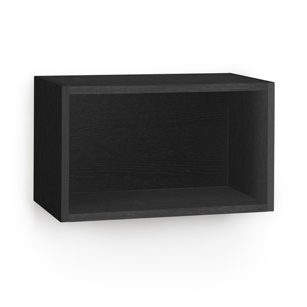 Way Basics Eco Friendly Wall Rectangle and Decorative Shelf (Black)