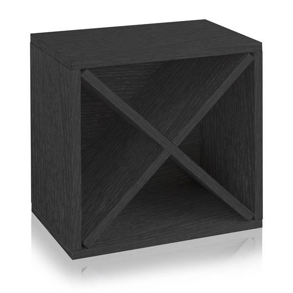 Way Basics Stackable Blox Wine Cube Storage 12 Bottles (Black)