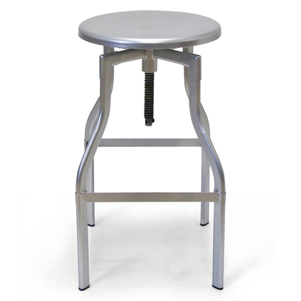Whitworth Drafting Stool (Silver)