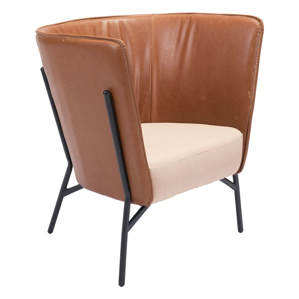 Assange Occasional Chair - Coffee/Beige