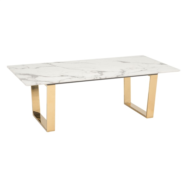 Atlas Coffee Table (Stone and Gold)