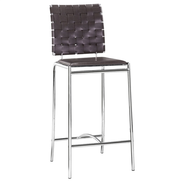 Criss Cross Counter Chair (Espresso)