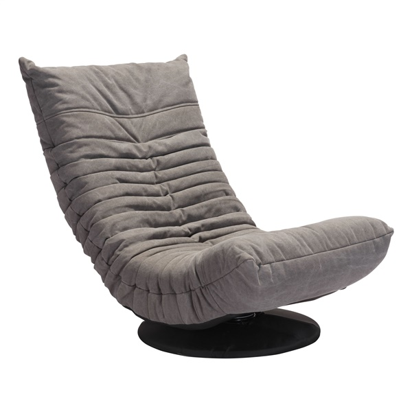 Down Low Swivel Chair (Gray)
