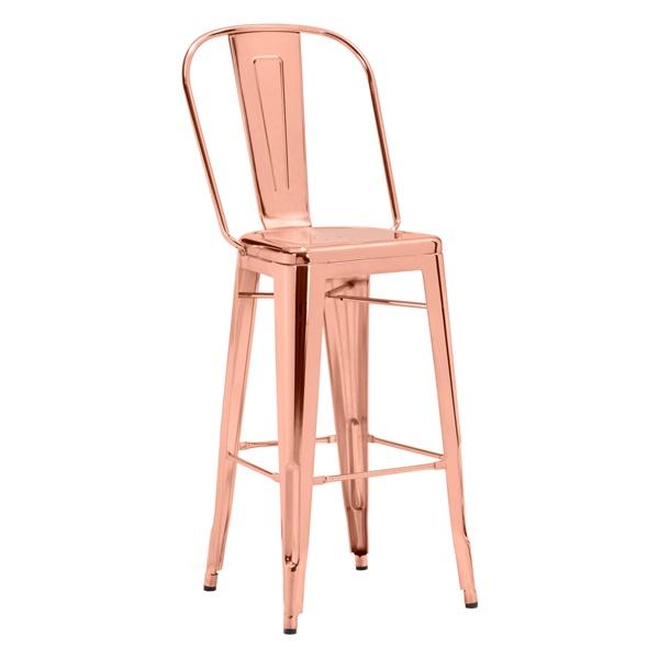 Elio Bar Chair (Gold)