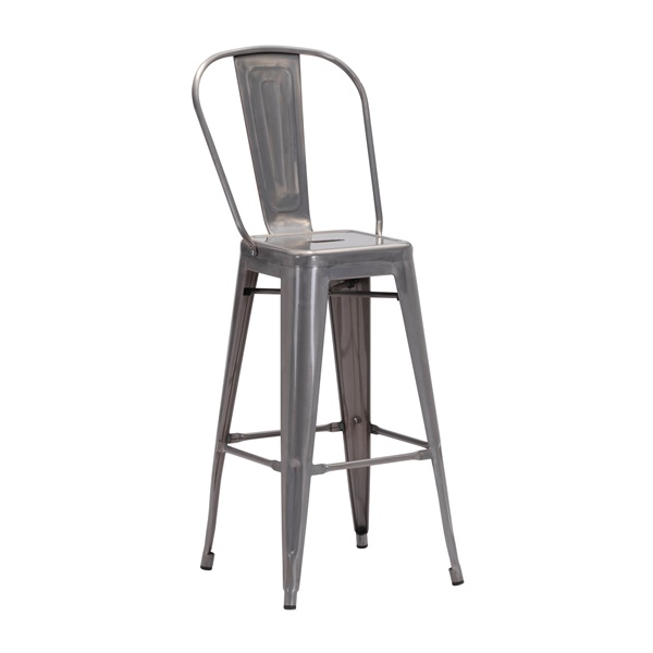 Elio Gunmetal Bar Chair