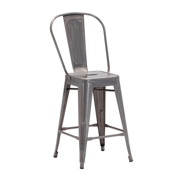 Elio Gunmetal Counter Chair