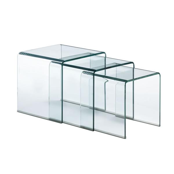 Explorer Glass Nesting Table