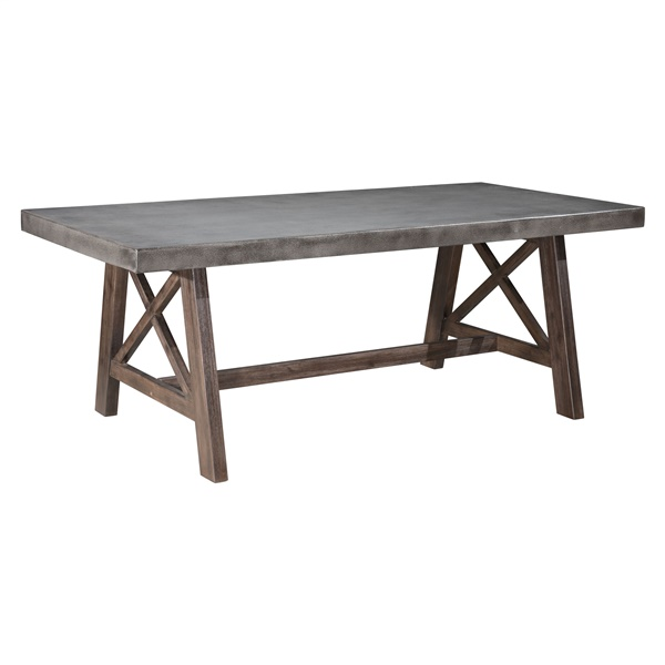 Ford Dining Table - Cement/Natural