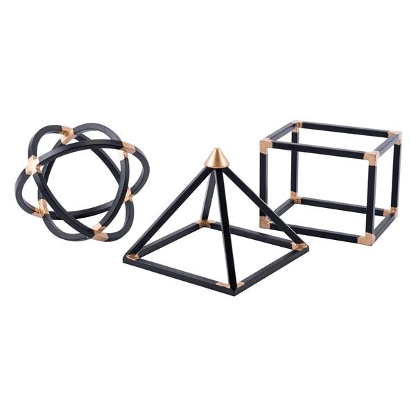 Geo Shape (Set of 3) (Black)