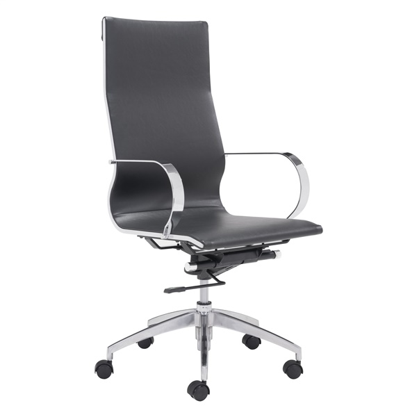 Glider Hi Back Office Chair (Black)
