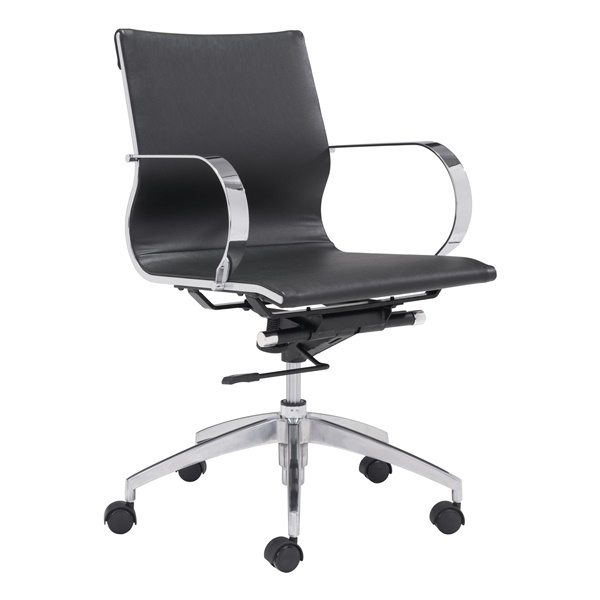Glider Low Back Office Chair (Black)