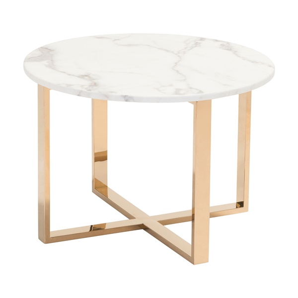 Globe End Table (Stone and Gold)