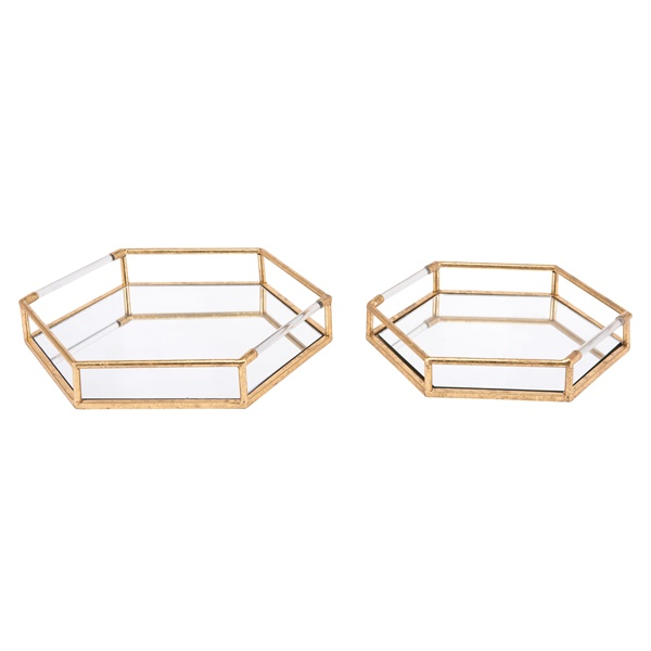 Hexagonal Tray (Set of 2)