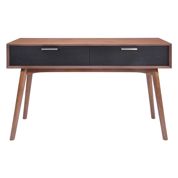 Liberty City Console Table - Walnut/Blk