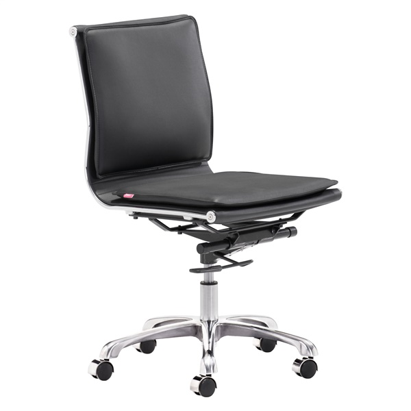Lider Plus Armless Office Chair (Black)