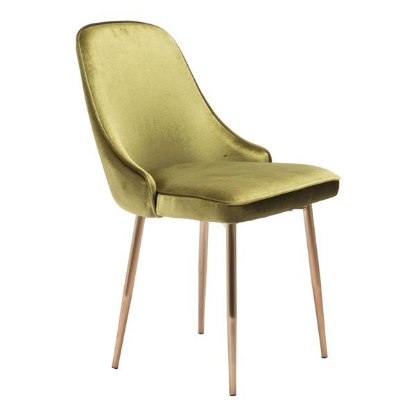 Merritt Dining Chair (Green Velvet)
