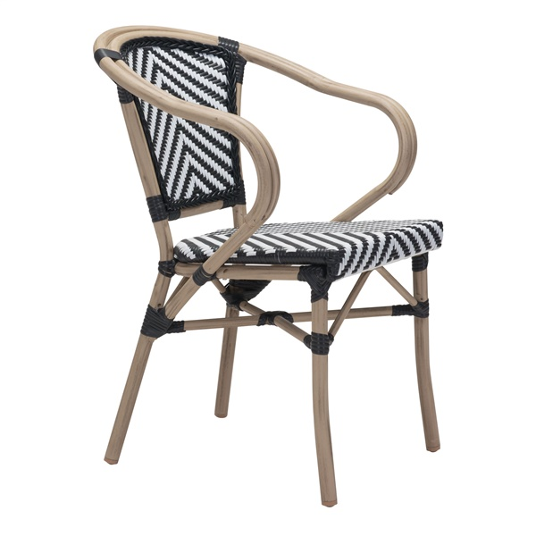 Paris Dining Arm Chair (Red and White)