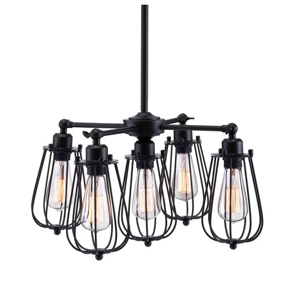 Porirua Ceiling Lamp - Distressed Black