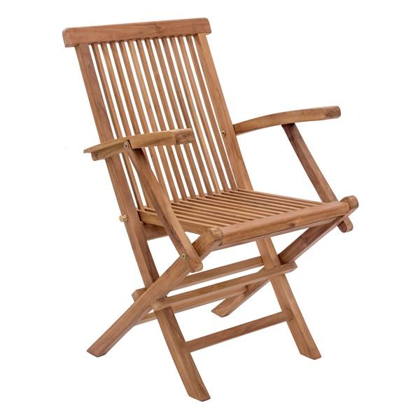 Regatta Folding Arm Chair - Natural