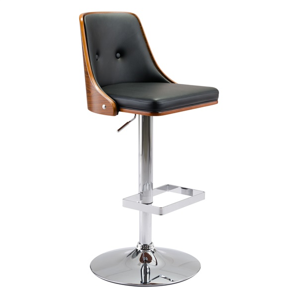 Scooter Bar Chair (Black)