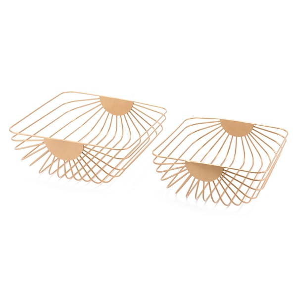 Wired Tray (Set of 2) (Gold)