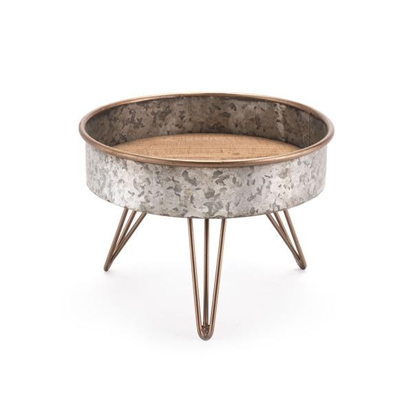 Zinc Round Tray Table (Small)