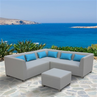 4-Piece Lagoon Outdoor Textilene Sectional Set