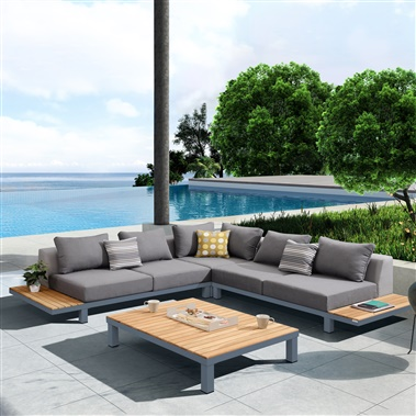 4-Piece Polo Outdoor Sectional Set