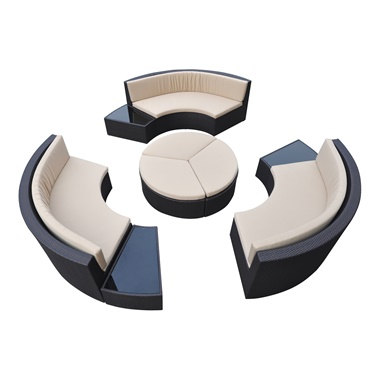 Barbados 9-Piece Outdoor Patio Set