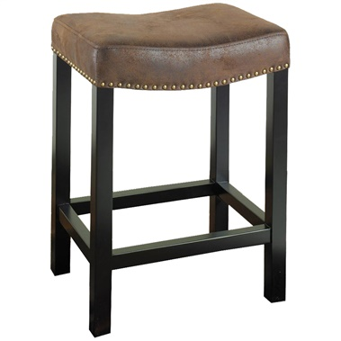 Tudor Backless Leather Counter Stool