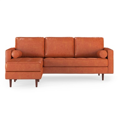 Ashton Reversible Vintage Leather Sectional