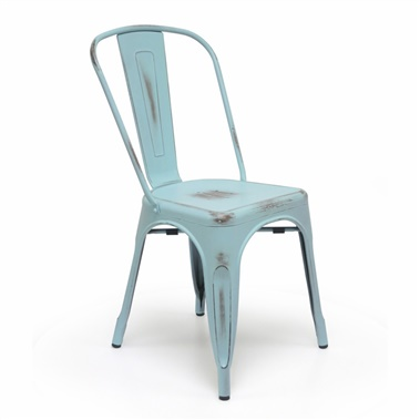 Bastille Cafe Stacking Chair (Antique Turquoise) (Set of 2)