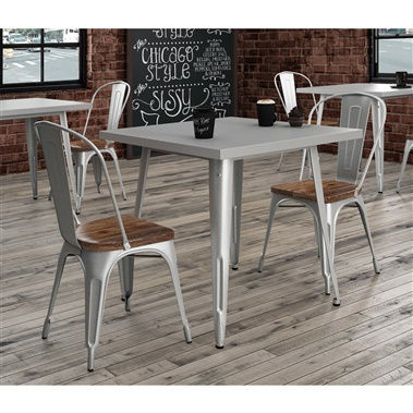 Bastille 3-Piece Dining Set (Weathered Wood Seat)