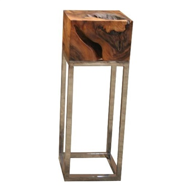 Block Pedestal End Table