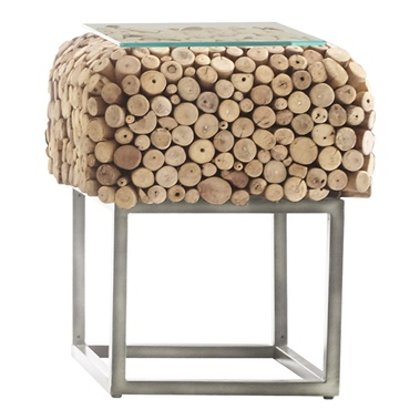 Pebble Square End Table