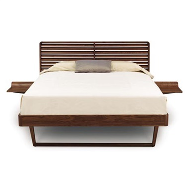 Contour Bed with Left & Right Shelf Nightstand