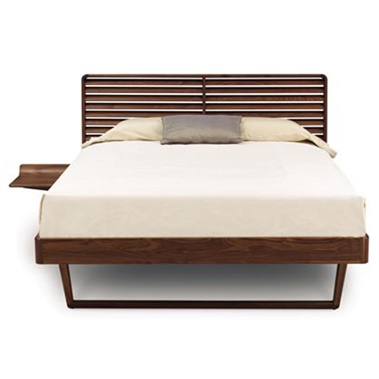 Contour Bed with Left Shelf Nightstand