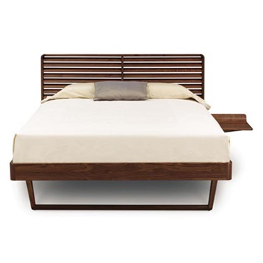 Contour Bed with Right Shelf Nightstand