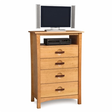 Copeland Furniture Berkeley 4-Drawer Chest with Media Organizer