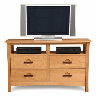 Copeland Furniture Berkeley 4-Drawer Dresser with Media Organizers