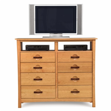 Copeland Furniture Berkeley 8-Drawer Dresser with Media Organizers