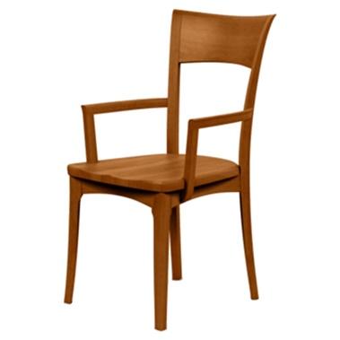 Copeland Furniture Ingrid Arm Chair - Wood Seat