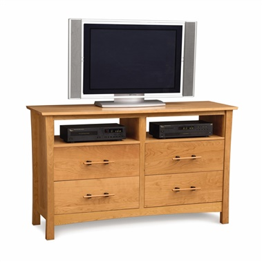 Copeland Furniture Monterey 4-Drawer Dresser with Media Organizers
