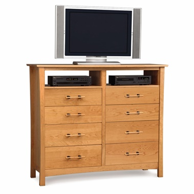 Copeland Furniture Monterey 8-Drawer Dresser with Media Organizers