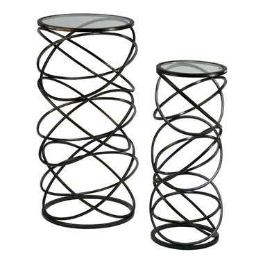 2-Piece Spiral Tables Set