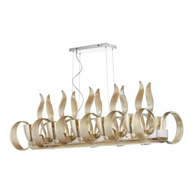 Lucille 10 Lights Island Chandelier