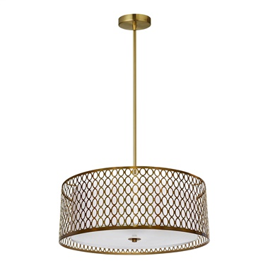 1015-17P 3-Light Pendant with Laser Cut Shade